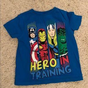 Super heroes T-shirt, gently worn